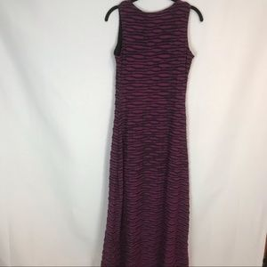 ECI Dresses - eci Sz S Purple+Black Ruffled Layer Maxi Dress